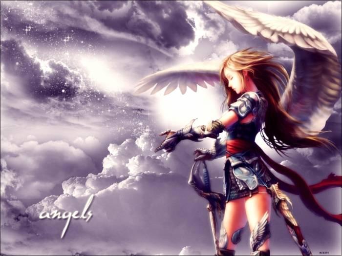 Девушка ангел воин